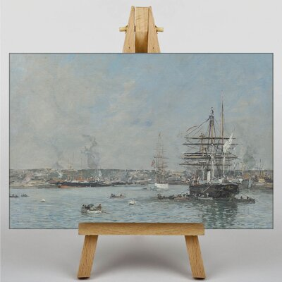 Big Box Art Le Havre, Une Corvette by Eugene Boudin Art Print on Canvas