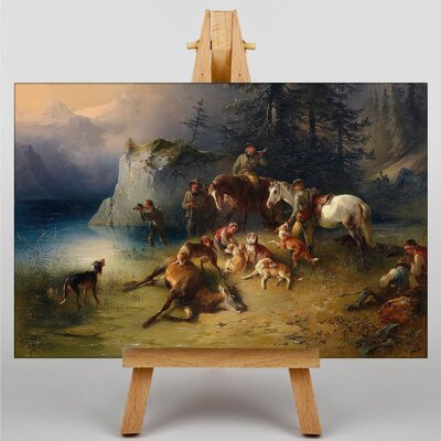 Big Box Art At the end of the Hunt by Ferdinand Georg Waldmuller Art Print on Canvas