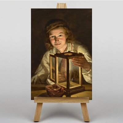 Big Box Art By the Light of the Lantern by Ferdinand Georg Waldmuller Art Print on Canvas
