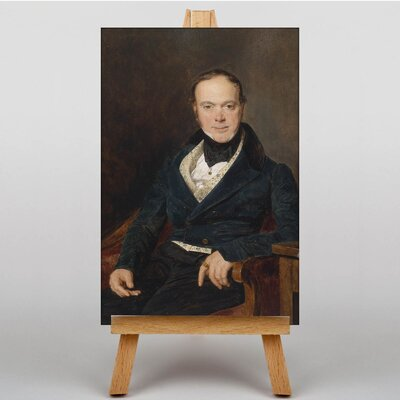 Big Box Art Portrait of Auguste Walter by Ferdinand Georg Waldmuller Art Print on Canvas