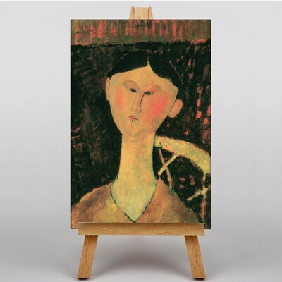 Big Box Art Bildnis Beatrice Hastings by Amedeo Modigliani Art Print on Canvas