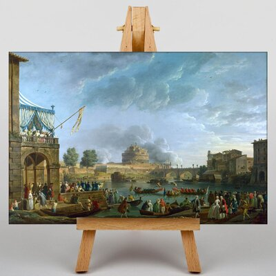 Big Box Art Festival Day by Bernado Bellotto Canaletto Art Print on Canvas