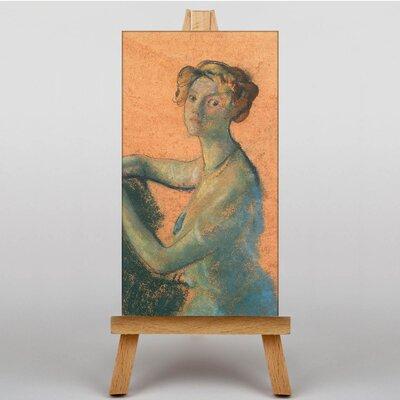 Big Box Art Portrait of a Woman by Arthur Bowen Davies Art Print on Canvas