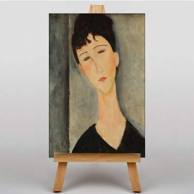 Big Box Art Portrait No.2 by Amedeo Modigliani Art Print on Canvas