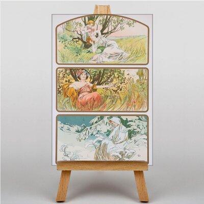 Big Box Art Multi Artworks by Alphonse Mucha Graphic Art on Canvas