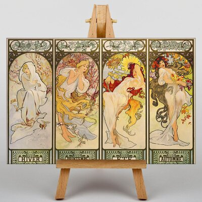 Big Box Art The Four Seasons No.1 by Alphonse Mucha Art Print on Canvas