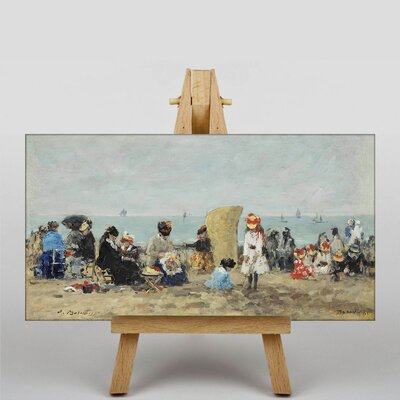 Big Box Art Beach of Trouville No.3 by Eugene Boudin Art Print on Canvas