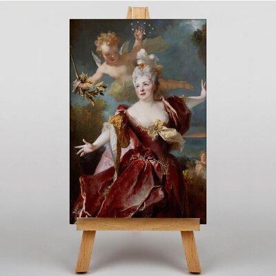 Big Box Art Cupid with Lady by Franz Kadlik Art Print on Canvas