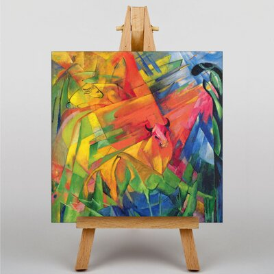 Big Box Art Animals in Landscape by Franz Marc Art Print on Canvas
