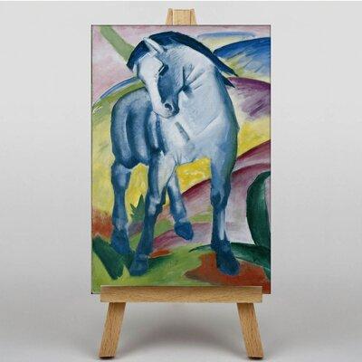 Big Box Art Blue Horse by Franz Marc Art Print on Canvas