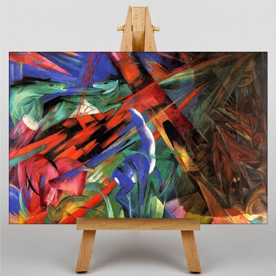Big Box Art Deer in the Forest by Franz Marc Art Print on Canvas