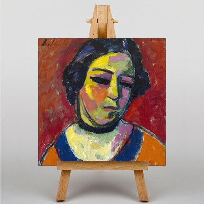 Big Box Art Portrait of a Woman by Alexi Von Jawlensky Art Print on Canvas
