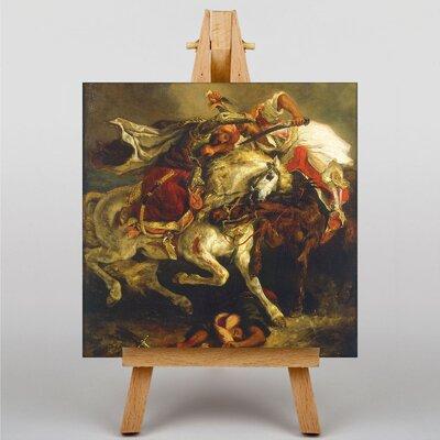 Big Box Art Combat by Eugene Delacroix Art Print on Canvas