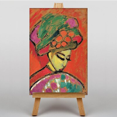 Big Box Art Young Girl with a Flowered Hat by Alexi Von Jawlensky Art Print on Canvas