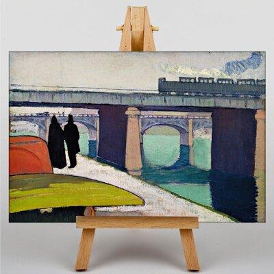 Big Box Art A Stroll by the River by Emile Bernard Art Print on Canvas