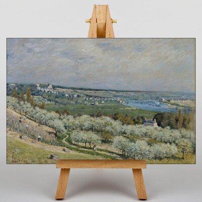 Big Box Art Terrace at Saint Germaine by Alfred Sisley Art Print on Canvas