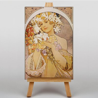 Big Box Art Flower Girl by Alphonse Mucha Graphic Art on Canvas