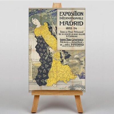 Big Box Art Madird Exposition by Eugene Grasset Vintage Advertisement on Canvas