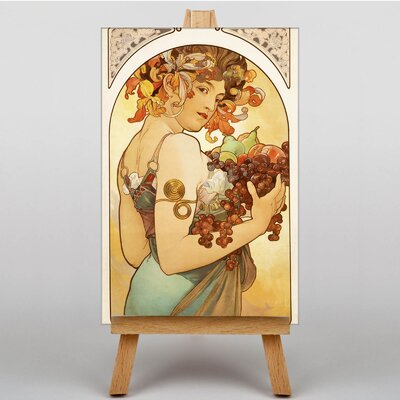 Big Box Art Fruit by Alphonse Mucha Graphic Art on Canvas