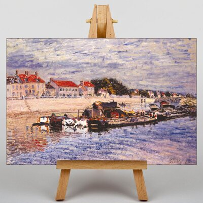 Big Box Art Barges by Alfred Sisley Art Print on Canvas