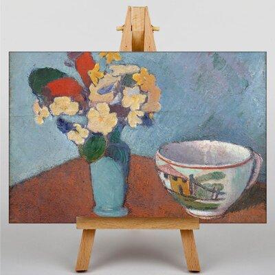 Big Box Art Vase with Flowers by Emile Bernard Art Print on Canvas