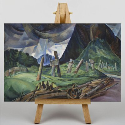 Big Box Art A Portrait in Memory by Emily Carr Art Print on Canvas