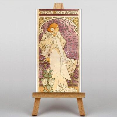 Big Box Art La Dame Aux Camelias by Alphonse Mucha Graphic Art on Canvas