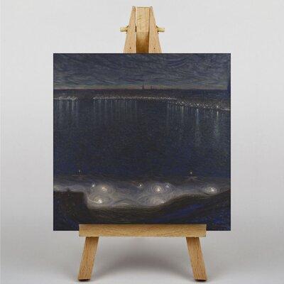 Big Box Art Night Scene across the Bay by Eugene Jansson Art Print on Canvas