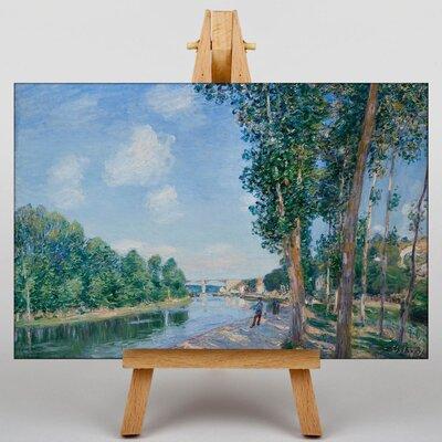 Big Box Art June Sunshine by Alfred Sisley Art Print on Canvas