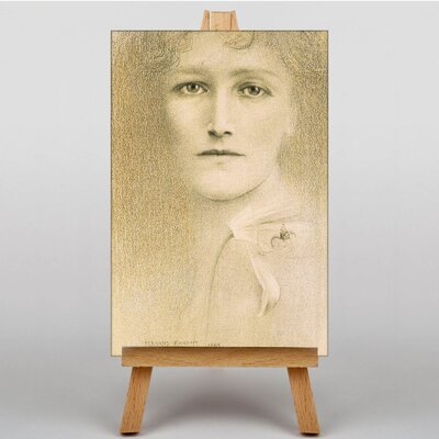 Big Box Art Female Portrait by Fernand Khnopff Art Print on Canvas