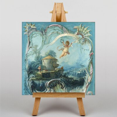 Big Box Art Cupid in Enchanted Landscape by Francois Boucher Art Print on Canvas