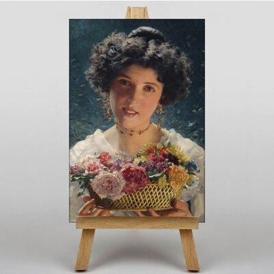 Big Box Art Basket of Flowers by Federico Zandomeneghi Art Print on Canvas