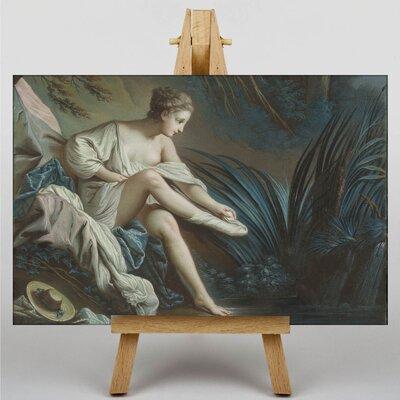 Big Box Art Nymph Bathing by Francois Boucher Art Print on Canvas