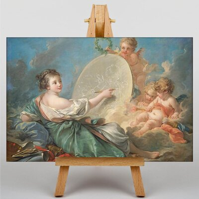 Big Box Art Painting of a Cupid by Francois Boucher Art Print on Canvas