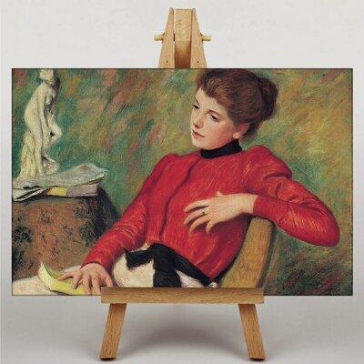 Big Box Art Girl with Reading Book by Federico Zandomeneghi Art Print on Canvas