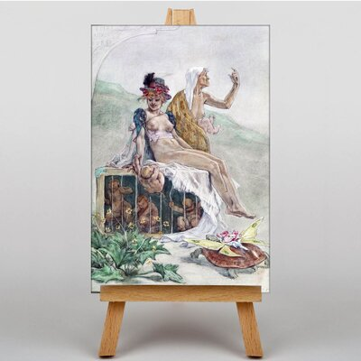 Big Box Art Caged Youth by Felicien Rops Art Print on Canvas