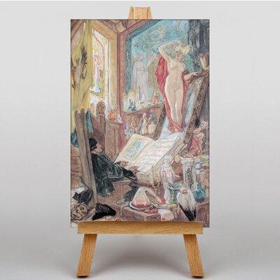 Big Box Art Incantation by Felicien Rops Art Print on Canvas