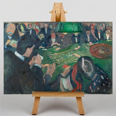 Big Box Art At the Roulette Table by Edvard Munch Art Print on Canvas