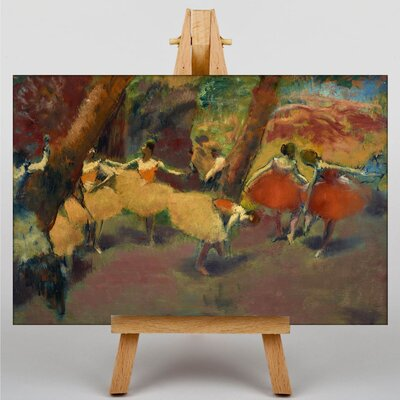 Big Box Art Before the Performance by Edgar Degas Art Print on Canvas