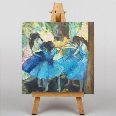 Big Box Art Dancers in Blue by Edgar Degas Art Print on Canvas