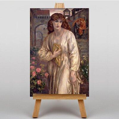 Big Box Art Salutation of Beatrice by Dante Gabriel Rossetti Art Print on Canvas