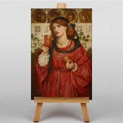 Big Box Art The Loving Cup by Dante Gabriel Rossetti Art Print on Canvas