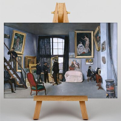 Big Box Art Bazille's Studio by Frederic Bazille Art Print on Canvas