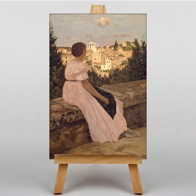 Big Box Art The Pink Dress by Frederic Bazille Art Print on Canvas