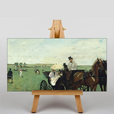 Big Box Art At the Races in the Countryside by Edgar Degas Art Print on Canvas