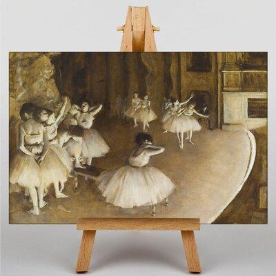 Big Box Art Ballet Rehersal on Stage by Edgar Degas Art Print on Canvas