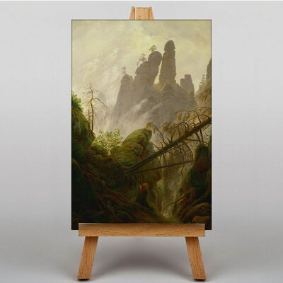 Big Box Art Rocky Ravine by Caspar David Friedrich Art Print on Canvas