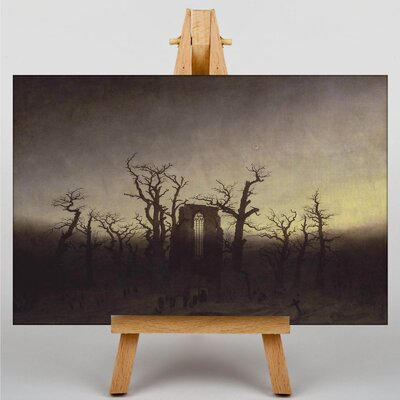 Big Box Art The Abbey and the Oakwood by Caspar David Friedrich Graphic Art on Canvas