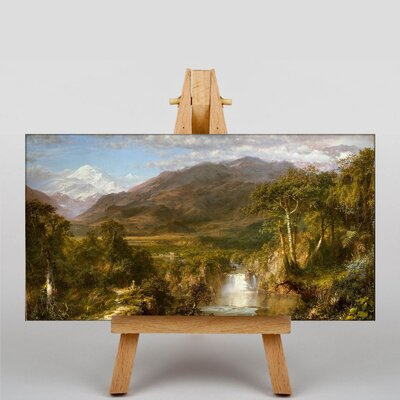 Big Box Art Church Heart of the Andes by Frederic Edwin Art Print on Canvas
