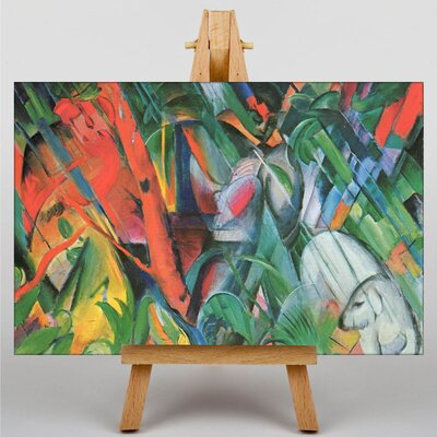 Big Box Art In the Rain by Franz Marc Art Print on Canvas